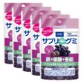 サプリdeグミ 鉄+葉酸+亜鉛 グレープ味 7日分 5個セット