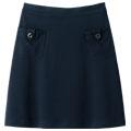 【SALE】大人ジャージー・ポンチデザインスカート【3,000円以上送料無料】