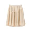 【SALE】シフォンチュールギャザースカート【3,000円以上送料無料】