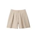 【SALE】タックキュロットスカート【3,000円以上送料無料】