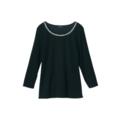 【送料無料】ビーズ刺繍7分袖Tシャツ