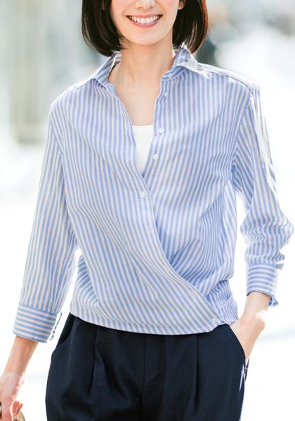 <DHC>リネン混・2wayシャツ(クールマックス)画像
