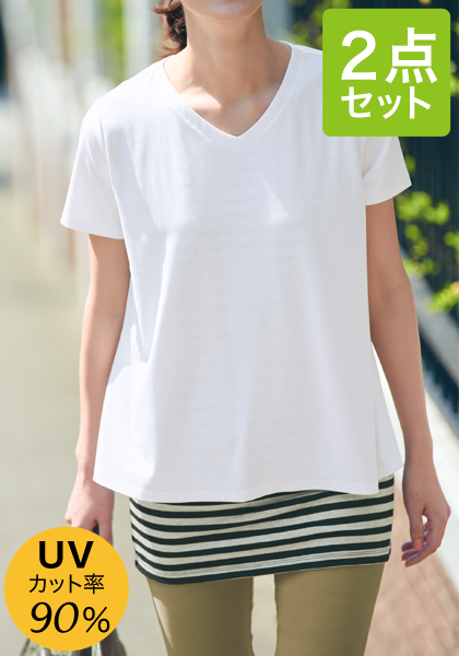 <DHC>かんたんデイリーセット・タンクチュニック&Tシャツ画像