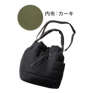 ふっくら巾着バッグ(ショルダー付)