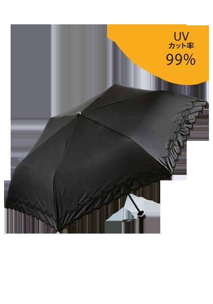 <DHC>花刺しゅう雨晴兼用傘画像