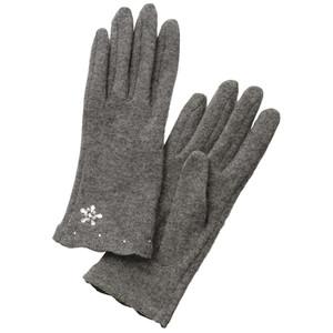 ビジュー付きスカラ刺しゅう手袋