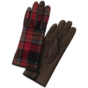 タータンチェック配色手袋