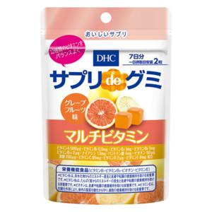 サプリdeグミ マルチビタミン グレープフルーツ味 7日分