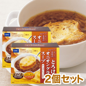 DHCとろけるオニオングラタンスープ チーズブレッド添え 2個セット