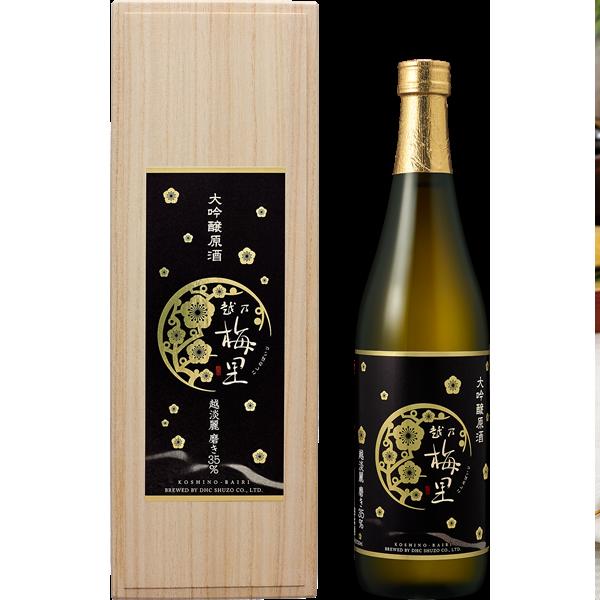 <DHC>越乃梅里 大吟醸原酒[越淡麗 磨き35%] 720ml(プレゼント付き)画像