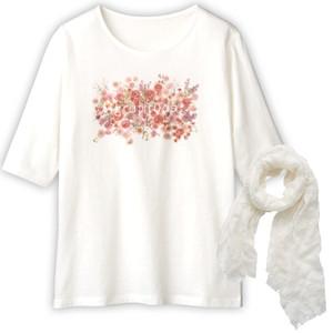 【限定】日比谷花壇×DHC・Tシャツとシアーストールセット