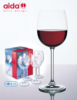 アイーダ社・赤ワイングラス(4個セット)