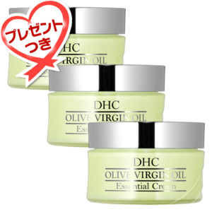 【WEB限定】オリーブバージンオイル エッセンシャルクリーム 3個セット(プレゼント付き)
