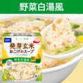 発芽玄米おこげのスープ(コラーゲン入り)野菜白湯(パイタン)風