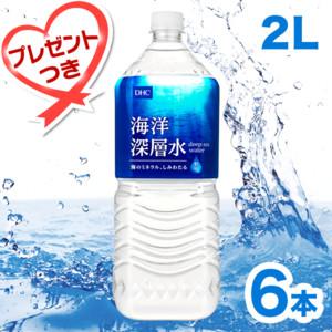 【お水定期便】初回特典付 DHC海洋深層水[2L×6本]